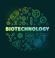 biotechnolgy colorful round outline vector image vector image