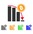 bitcoin epic fail chart icon vector image vector image