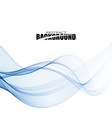 blue abstract smoke on a white background vector image vector image