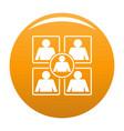 business icon orange vector image vector image