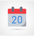 calendar date trendy symbol vector image vector image