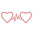 cardio heart heart beat icon vector image vector image