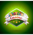 casino with poker card and and chips vector image vector image