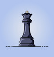 chess black queen flat icon vector image vector image