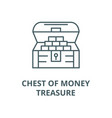 chest moneytreasure line icon chest vector image vector image