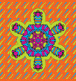 childish geometric symmetri design of neon bright vector image vector image