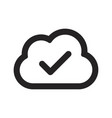 cloud approve icon vector image