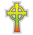 colorful catholic celtic cross on a white vector image vector image