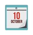 Columbus day calendar icon vector image vector image