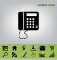 communication or phone sign black icon at vector image vector image