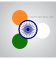 creative for indian rebuplic day vector image