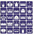 Crown icons on blue vector image