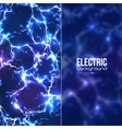 Electric background with plastic transparent vector image