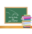 Examination test poster Exam preparation vector image vector image