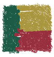 Flag of Benin handmade square shape vector image