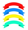flat ribbons banners ribbons in flat design set vector image