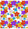 Floral Cartoon Seamless vector image vector image