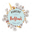 forest christmas background vector image vector image