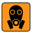 Gas mask sign vector image vector image