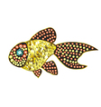 Gem Gold Fish vector image vector image