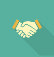handshake business concept handshake icon vector image