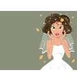 happy bride vector image vector image