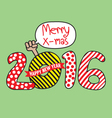 Happy New Year 2016 Hand Draw Style vector image vector image