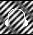 headphones sign icon hole vector image