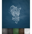 hipster animal icon Hand drawn vector image vector image