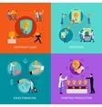 Intellectual property design concept set vector image vector image
