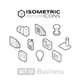 Isometric outline icons set 10 vector image vector image