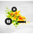 Leaf nature infographics modern template vector image