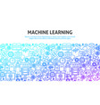 machine learning concept vector image vector image