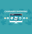 marijuana shopping concept vector image