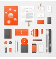 Modern corporate identity vector image vector image