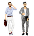 modern fashionable businessmen vector image