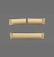 new used sugar sachets sticks mockup vector image vector image