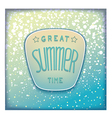 Realistic summer badge vector image vector image