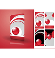 Red business cards set vector image vector image