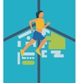 Running woman Healthy lifestyle and fitness vector image vector image