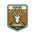 Safari hunting sport club badge vector image vector image