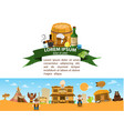 saloon wild west game background 19th century in vector image vector image