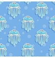 sea seamless pattern with funny jellyfish vector image vector image
