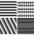 set geometric seamless background vector image