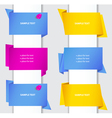 set of colorful origami paper banners and labels w vector image