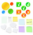 set stickers in different styles vector image