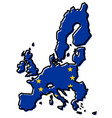 simplified map of european union member countries vector image