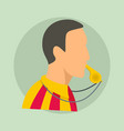 soccer referee background flat style vector image