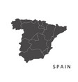 spain map with regions vector image