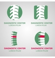 spine diagnostic center logo vector image vector image